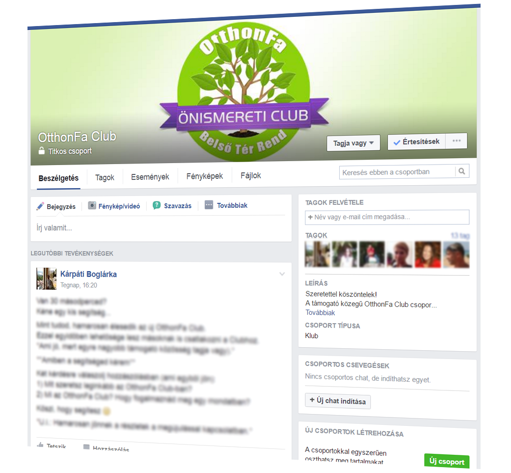OtthonFa Club zárt Facebook csoport