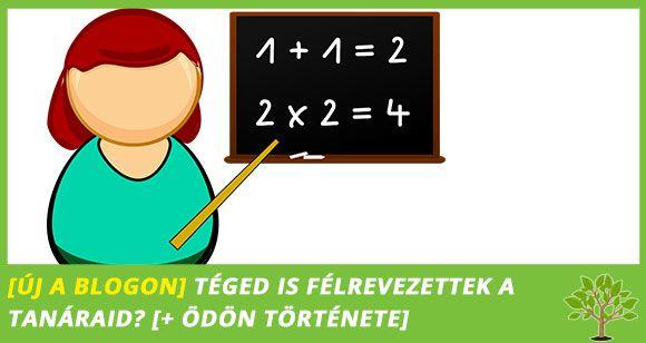 Téged is félrevezettek a tanáraid?